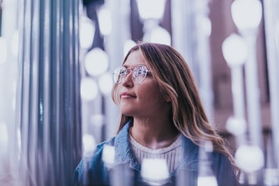 woman thinking about making money